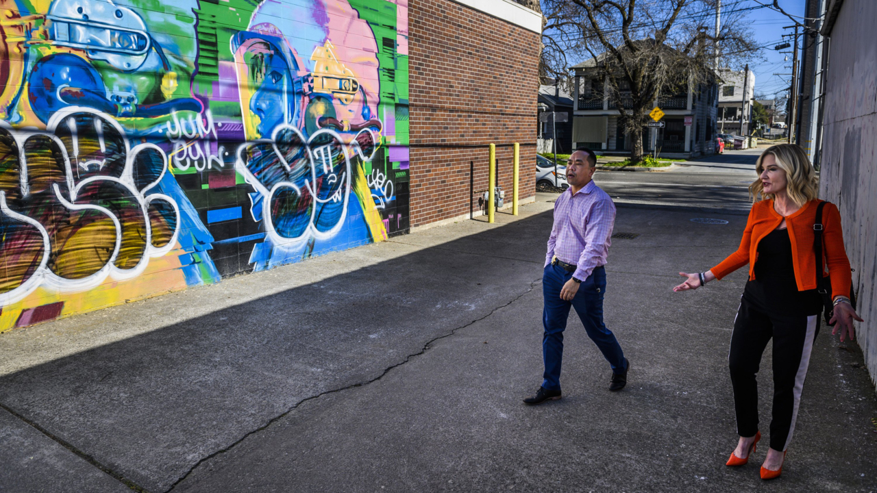 Sacramento mural defaced with graffiti. Business owner 'disappointed and discouraged'