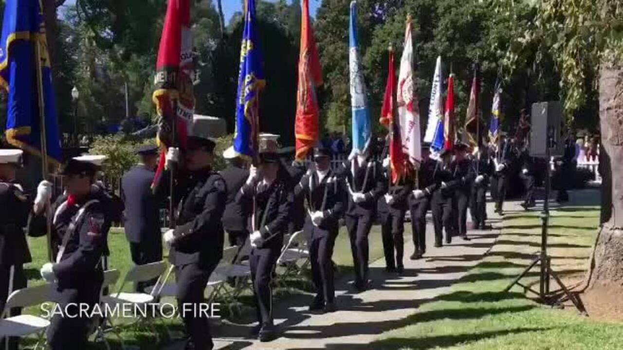 Firefighters Marching At Capitol >> The Names Of 31 Fallen Firefighters Added To The California