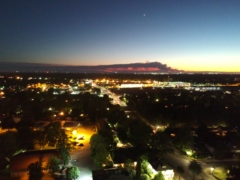 Here's a dramatic view of the raging County Fire as seen at night from Sacramento