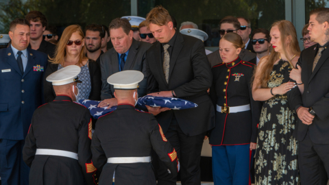 'Now it's our turn to carry on her legacy,' says Marine at Sgt. Nicole Gee's memorial