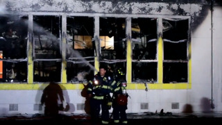 See classroom destroyed by fire at Grant High School, and hear what happened
