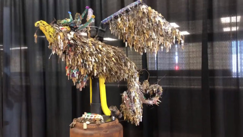 See sculpture made from keys of homes burned in Camp Fire