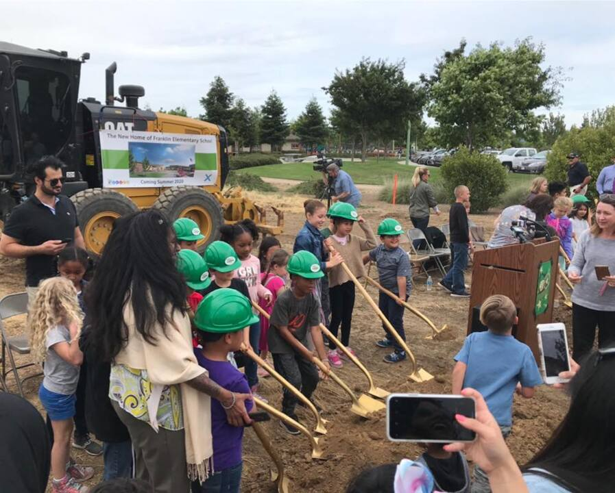 Franklin Elementary breaks ground for new school in Elk