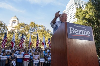 Bernie Sanders tells Sacramento rally he won't settle for defeating Donald Trump