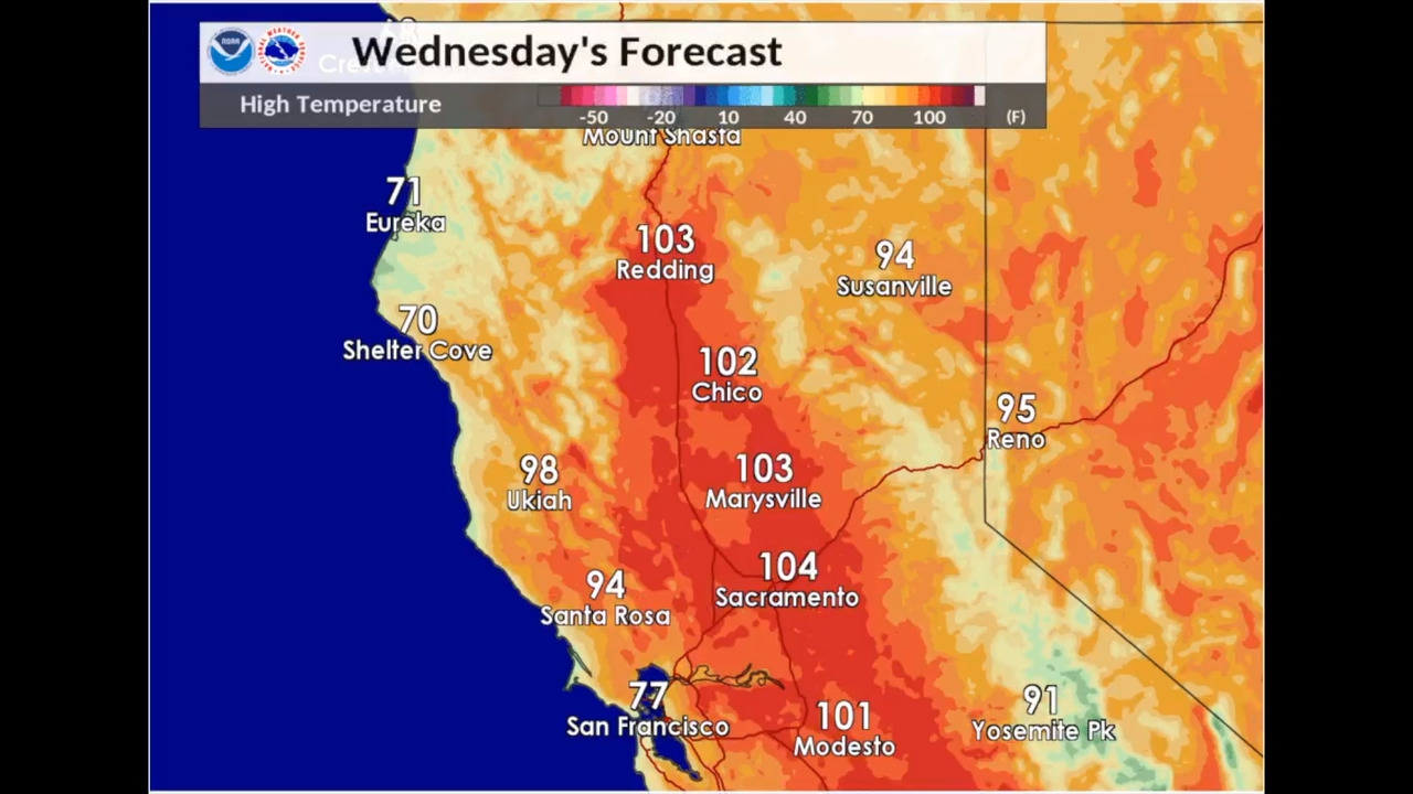 Sacramento CA weather: Highs near 104 in midweek forecast ... on san diego california map, california disaster map, california dam map, california average temperature map, california ports of entry map, california glacier map, california water map, california recreation map, california neighborhood map, california earthquake prediction map, california evacuation map, california radiation map, california wildlife map, california sights map, california local map, california ski areas map, california current map, california doppler, california checkpoints map, california snowpack map,