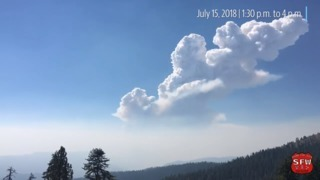 Video shows intense Ferguson Fire blowing up in heavy clouds of smoke