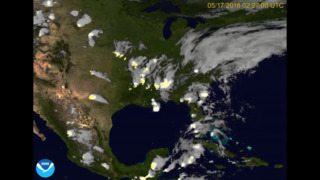 This lightning storm shown from high above Earth is captivating