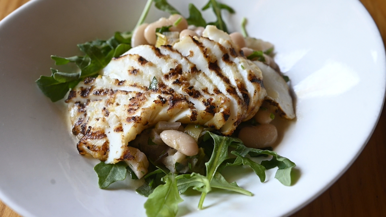 'You Gotta Try This' grilled calamari salad at The Press Bistro
