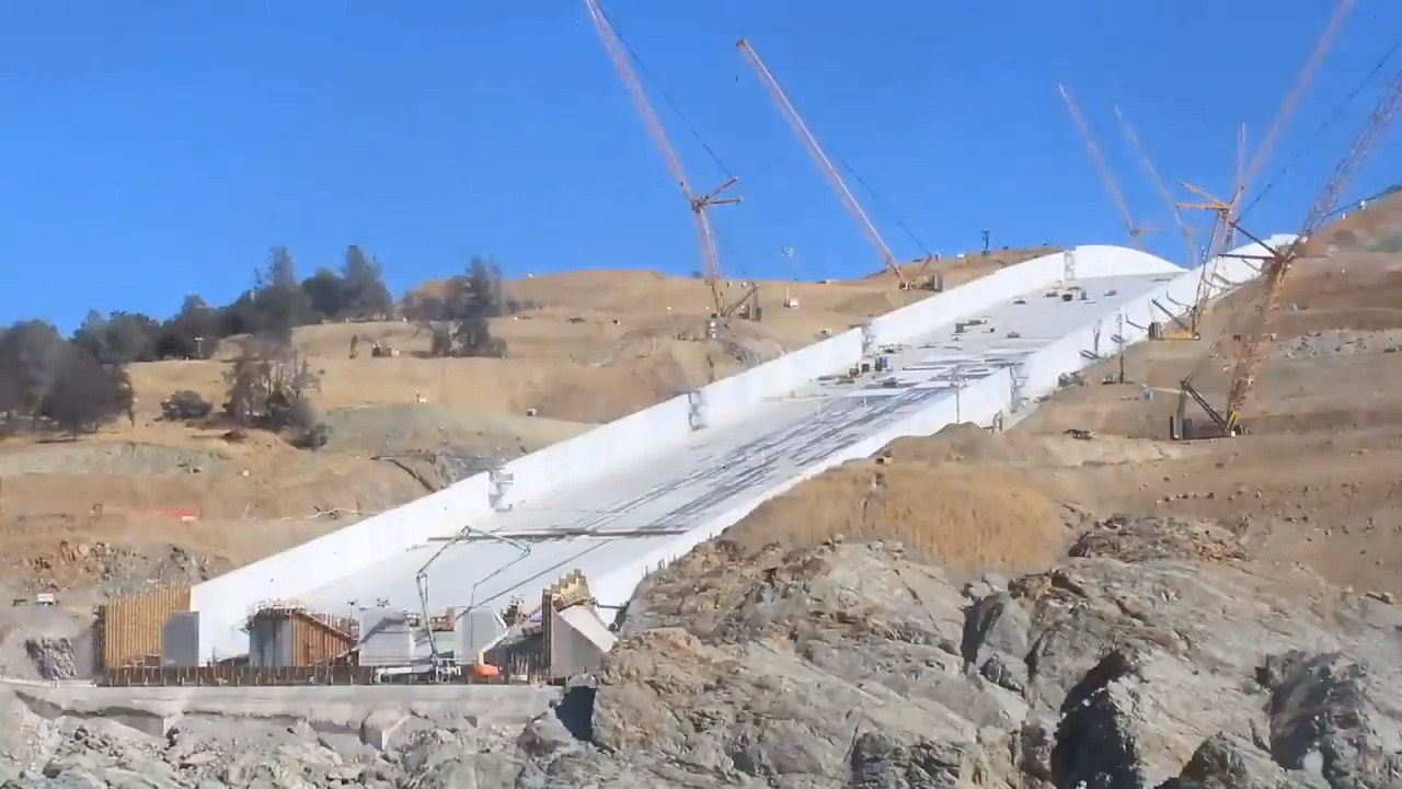 See four months of Oroville Dam spillway construction in one minute