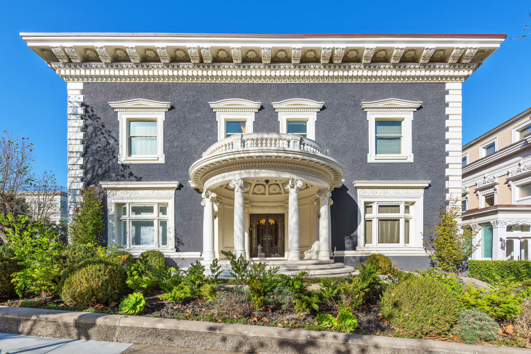Step into dazzling S.F. mansion, built in 1906 and renovated. Price is $25.8 million