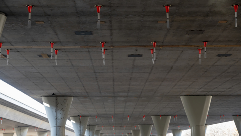 How these orange cones attached to freeway underpasses are keeping bats away