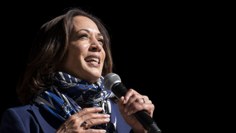 Kamala Harris appeals to Nevada voters in a state hit hard by COVID-19
