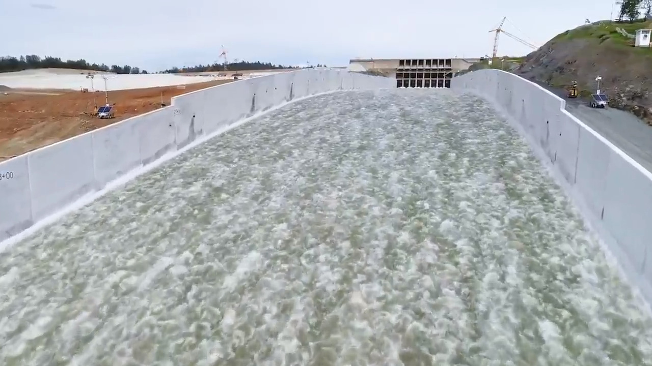 See the beauty and breadth of the new Oroville Dam spillway now in
