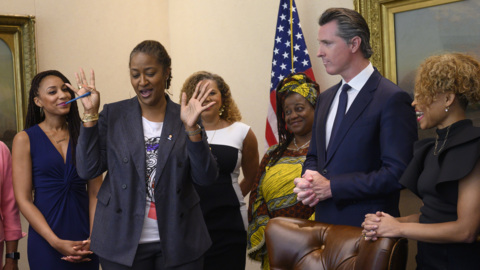 Gavin Newsom signs anti-discrimination law to protect Californians with black hairstyles