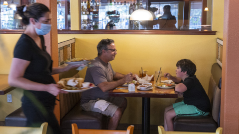 'It feels like it's getting back to normal.' Dining inside a restaurant in El Dorado County