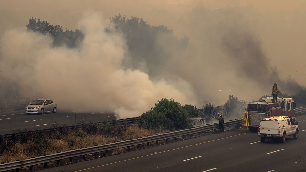 Travis AFB evacuated as LNU Lightning wildfires top 124,000 acres, destroy homes in Vacaville