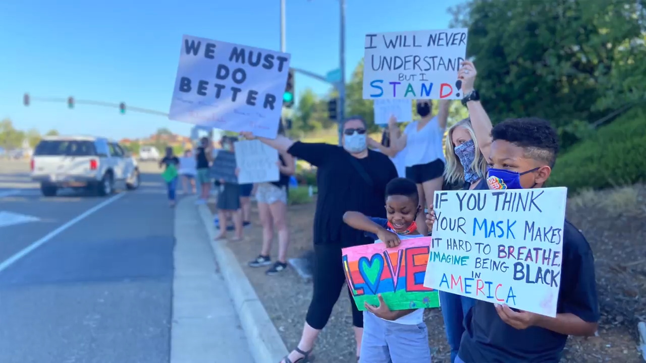 El Dorado Hills Halloween 2020 Events El Dorado Hills CA residents put on George Floyd protest | The