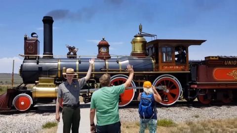 Transcontinental Railroad antique returns home to Sacramento
