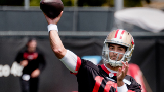 First glimpse of Jimmy Garoppolo practicing, plus Mike McGlinchey, other 49ers in OTAs