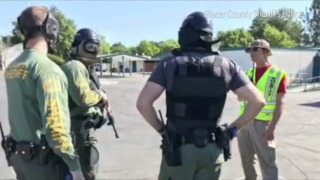 Watch Placer County Sheriff's Office deputies train for active shooter
