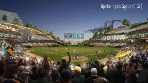 This is the vision for Oakland A's new ballpark near Jack London Square along the water