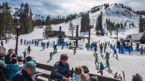 It's been a dry February. Here's what the skiing is like at one Sierra resort