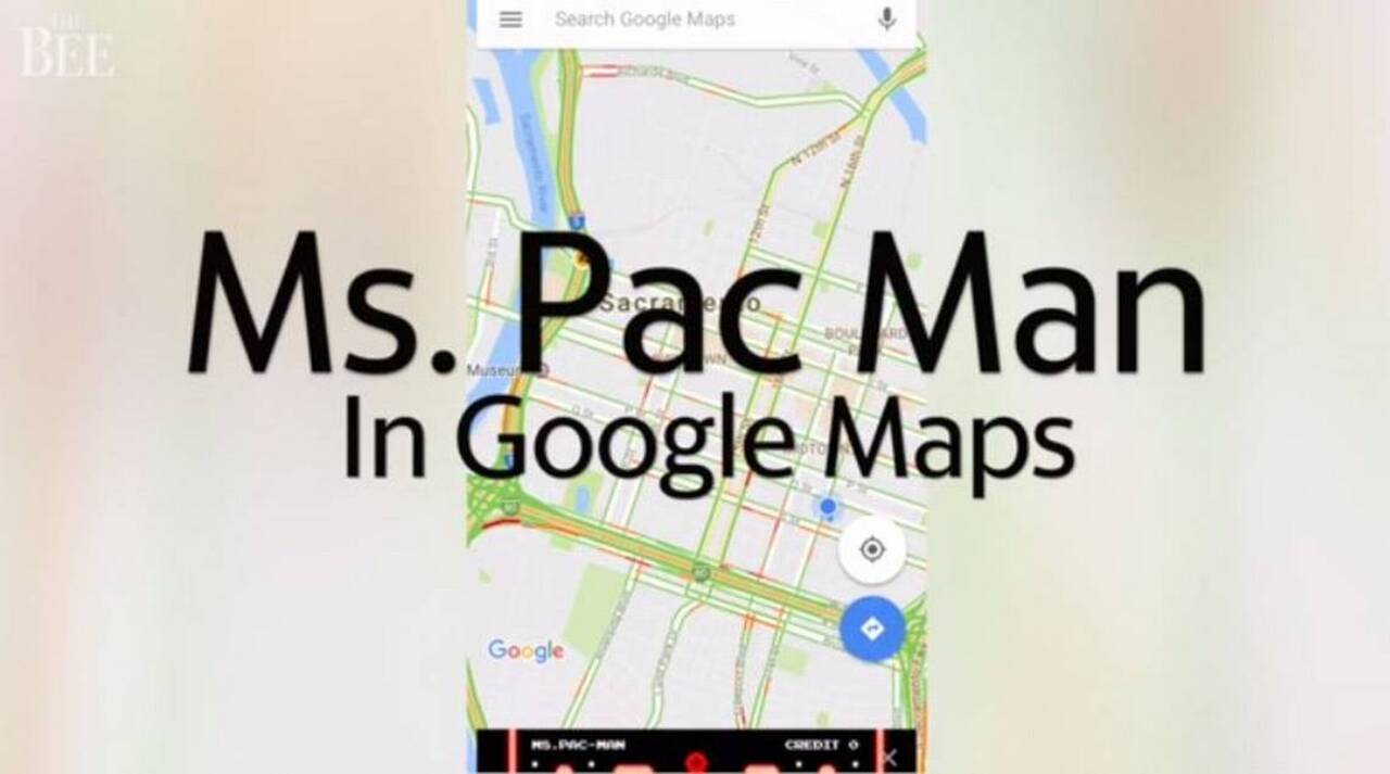 Time on your hands? Google Maps brings 'Ms. Pac-Man' back for April Fools run