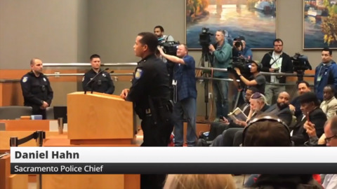 Sacramento Police Chief speaks about arrests at Stephon Clark protest