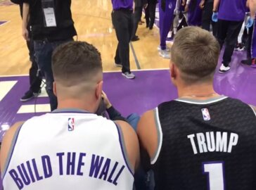 'Build the Wall' jersey at Kings game sparks outrage. Wearer says it's just for laughs
