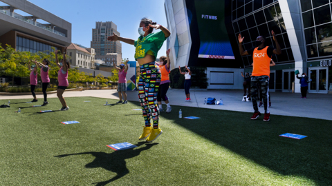 See this Sacramento gym go outside for Zumba 'with health and safety at the forefront'