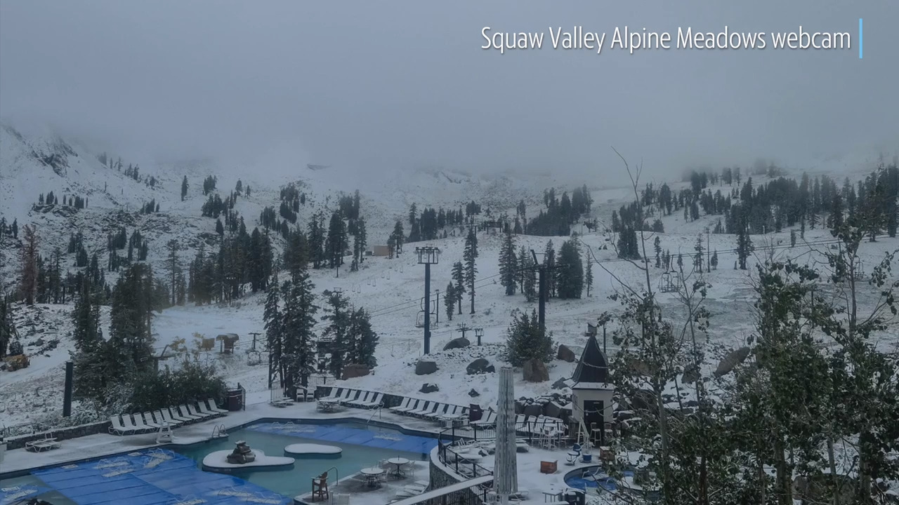 See the snow fall at Lake Tahoe ski resort—with six days of summer left