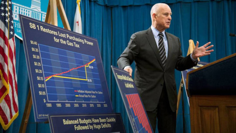 Jerry Brown has been lucky to have a strong economy