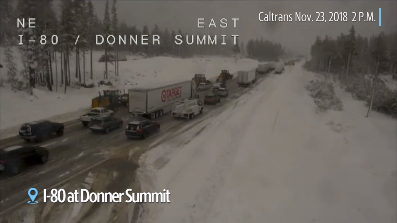 Slow traffic on I-80 between Kingvale and Donner | The