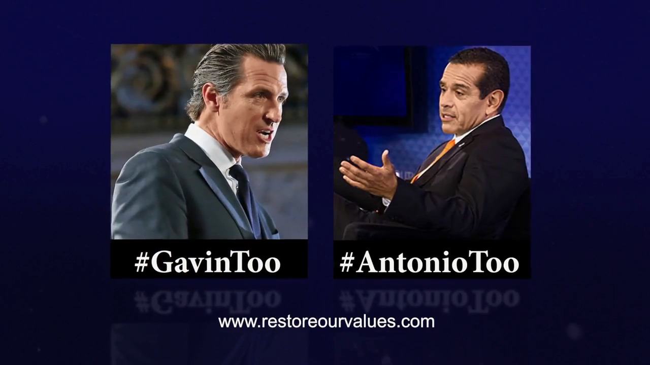 Ad misleads on romantic affairs of Newsom, Villaraigosa