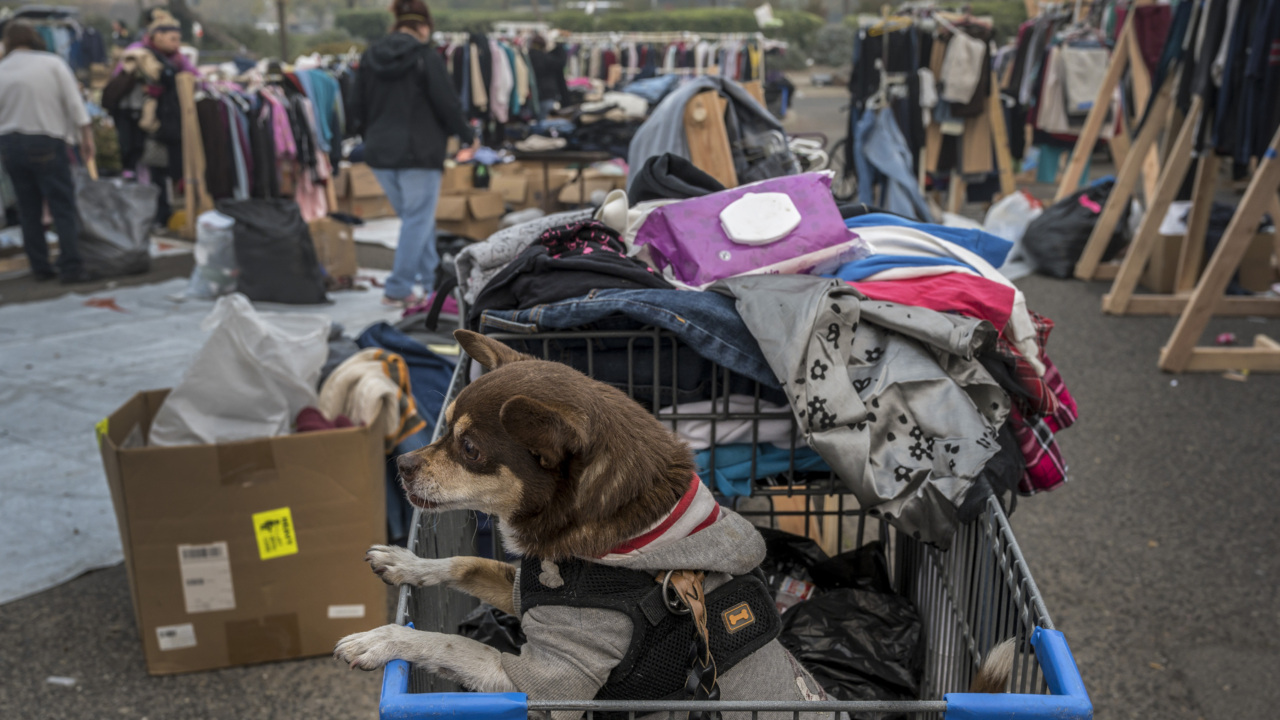 Fire evacuees living in Walmart's tent city in Chico told they'll have to move to shelter