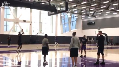 See the Kings getting ready for return to home court
