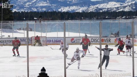 Bright sun, poor ice delay outdoor NHL game at Lake Tahoe