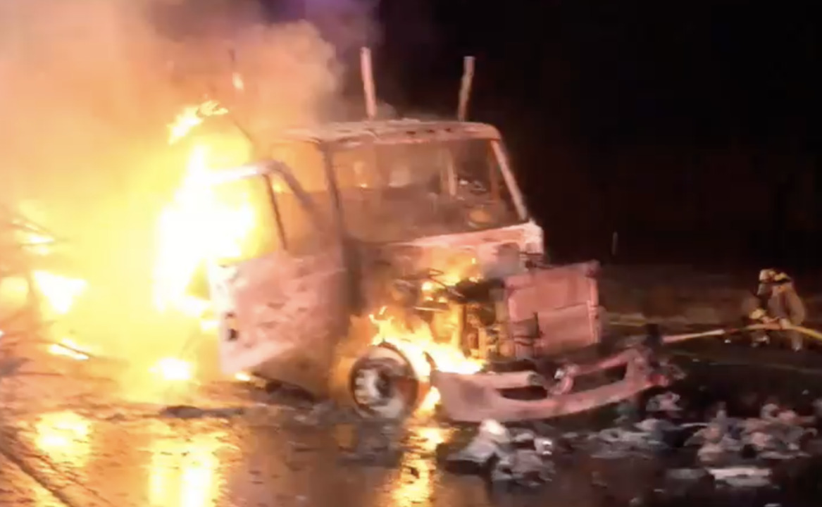 Video captures fiery, deadly wreck on I-5 near Woodland