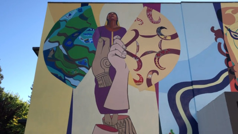 Check out Sacramento State's new mural depicting the story of Filipino migration