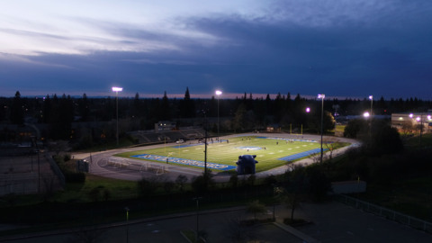 See high-school-age football game played in Sacramento after 14 months of COVID shutdown