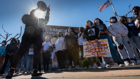 See St. Francis High School students protest racism after blackface incident