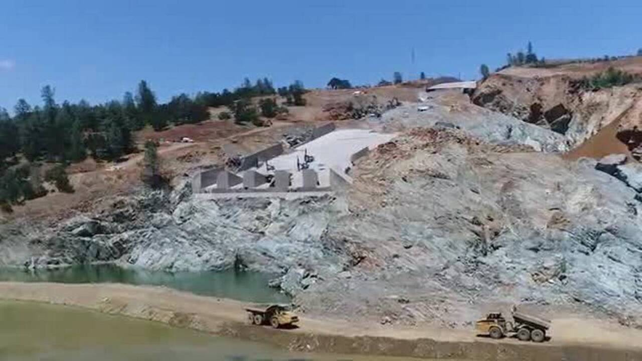 Take a look at repairs on the Oroville Dam spillway heading