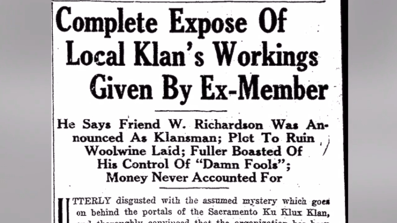 You asked, we answered: Was there ever a Ku Klux Klan presence in Sacramento?