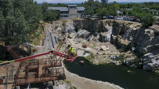 Rocklin's quarry adventure park to open in August. Our drone shows what it looks like now