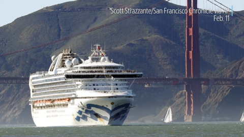 Gavin Newsom discusses cruise ship Grand Princess, which is being held off California coast