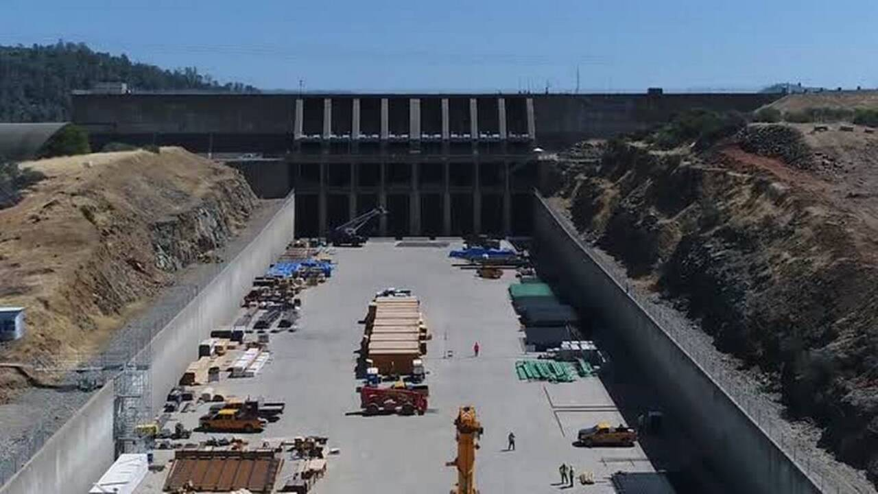 Here's what Oroville Dam spillway repair work looks like as