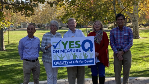 Some Davis leaders campaign to renew Measure Q