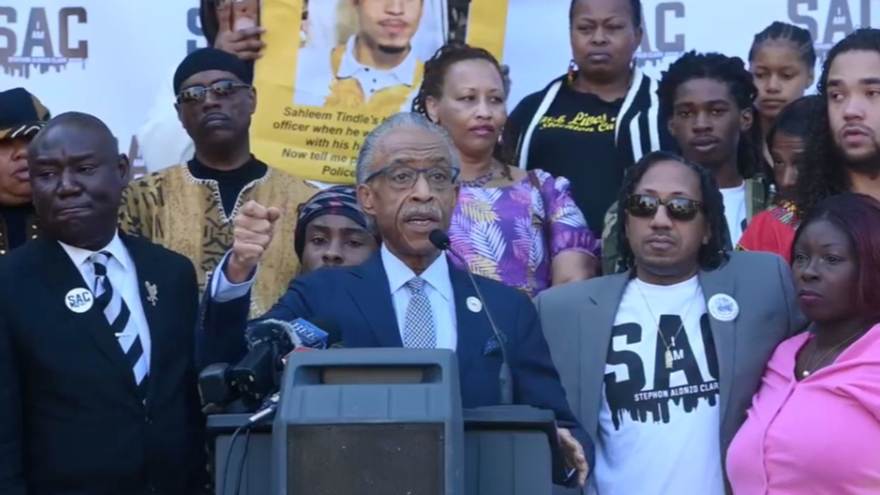 Live from state capitol with Al Sharpton and Clark family