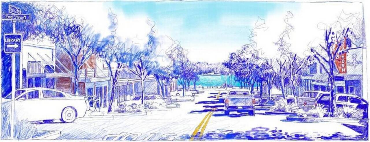 California Sketches: Sacramento River featured prominently from Rio Vista's Main Street