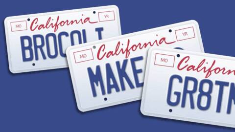 The California DMV rejected a law professor's vanity license plate. Now it's getting sued